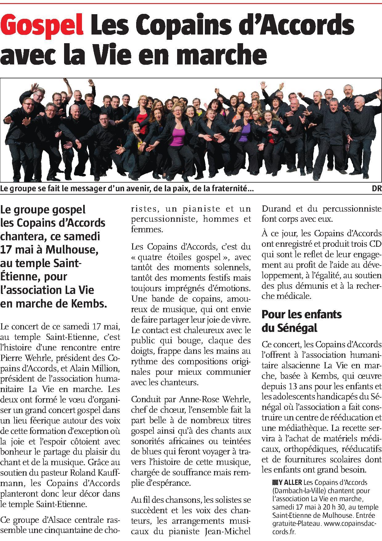 L'Alsace du 13 mai 2014