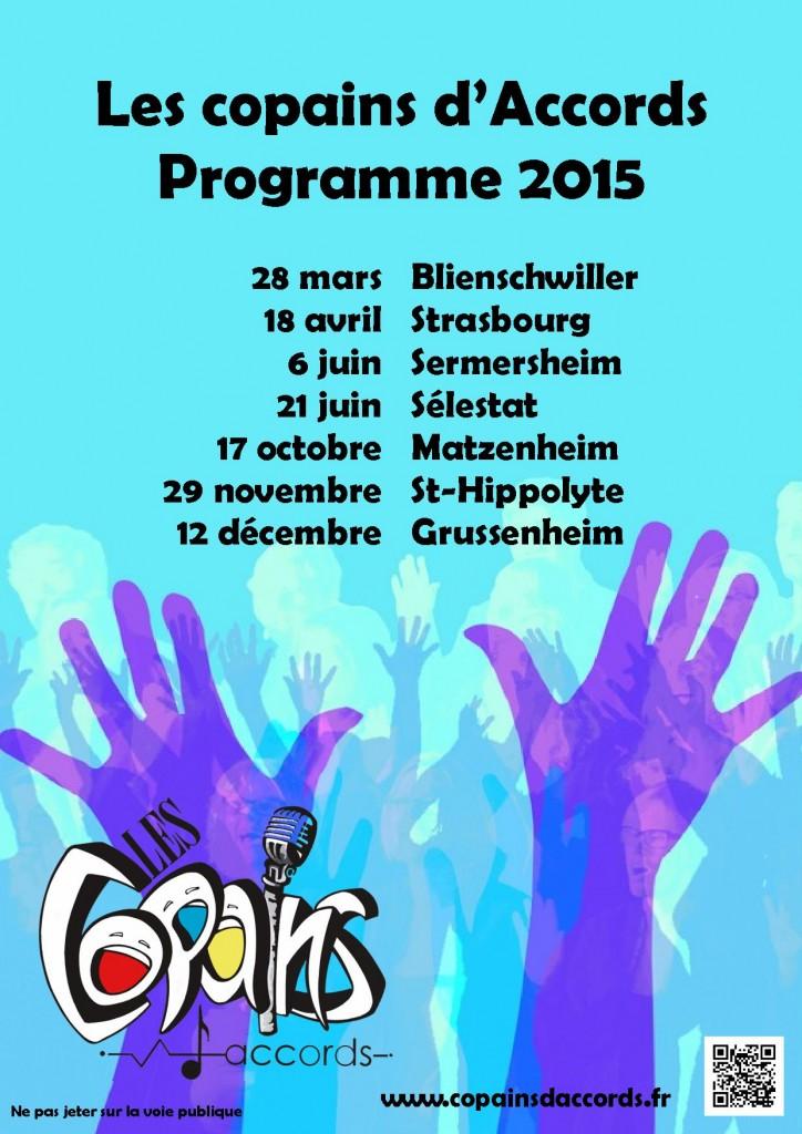 Programme des concerts pour 2015