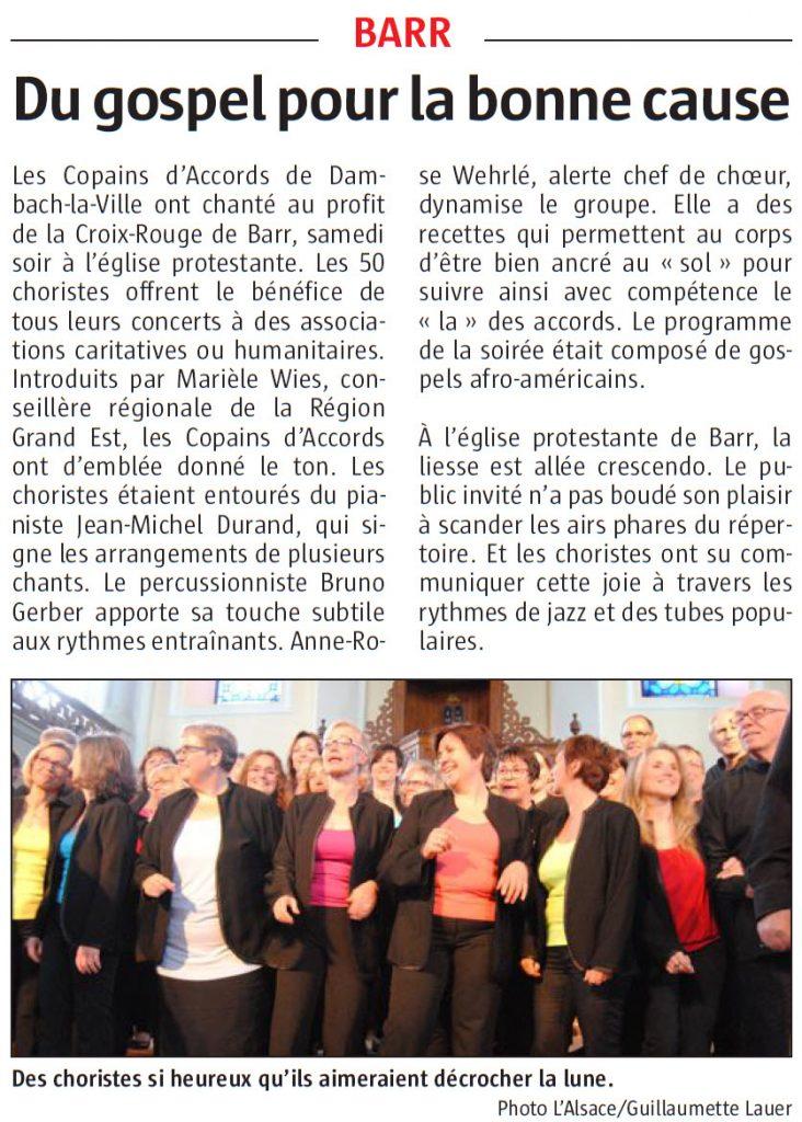 L'Alsace du 23 mai 2016
