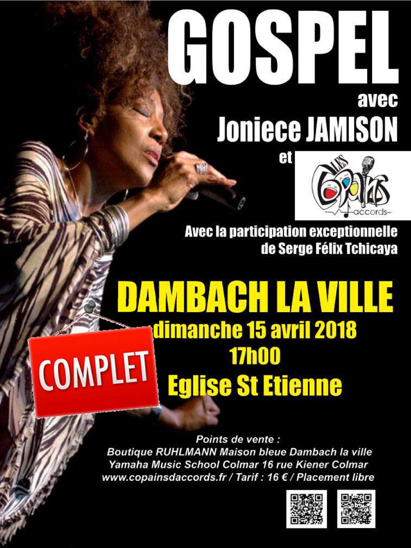 Guichet fermé pour notre concert avec Joniece Jamison