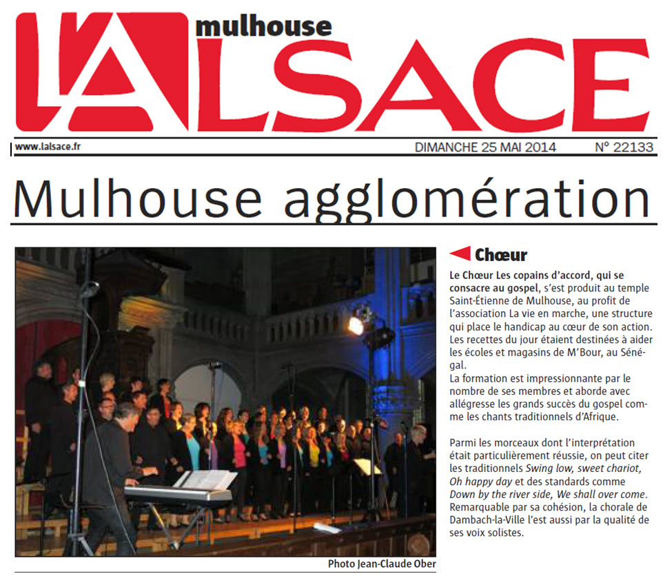 L'Alsace du 25 mai 2014