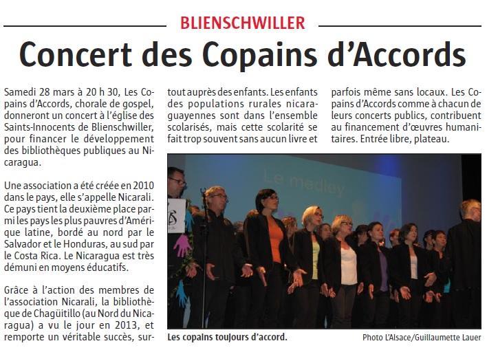 L'Alsace du 25 mars 2015