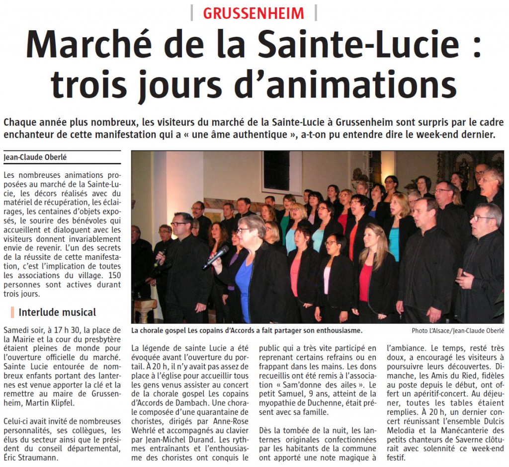 L'Alsace du 18 décembre 2015