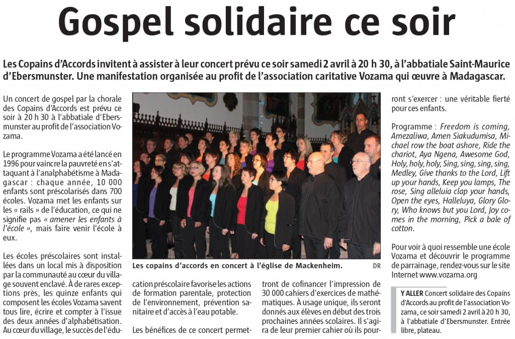 L'Alsace du 2 avril 2016