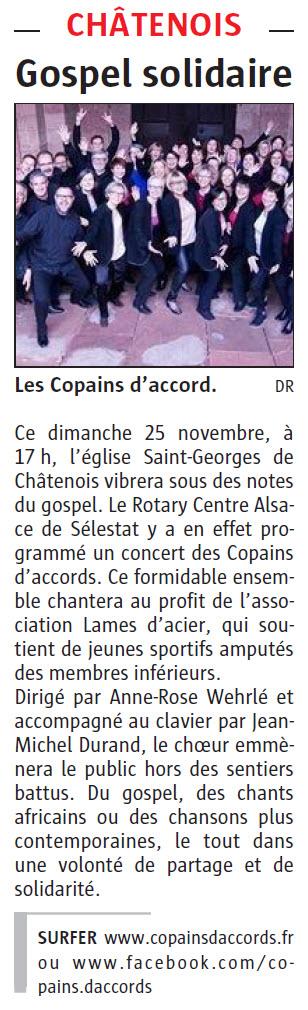 L'Alsace du 24 novembre 2018