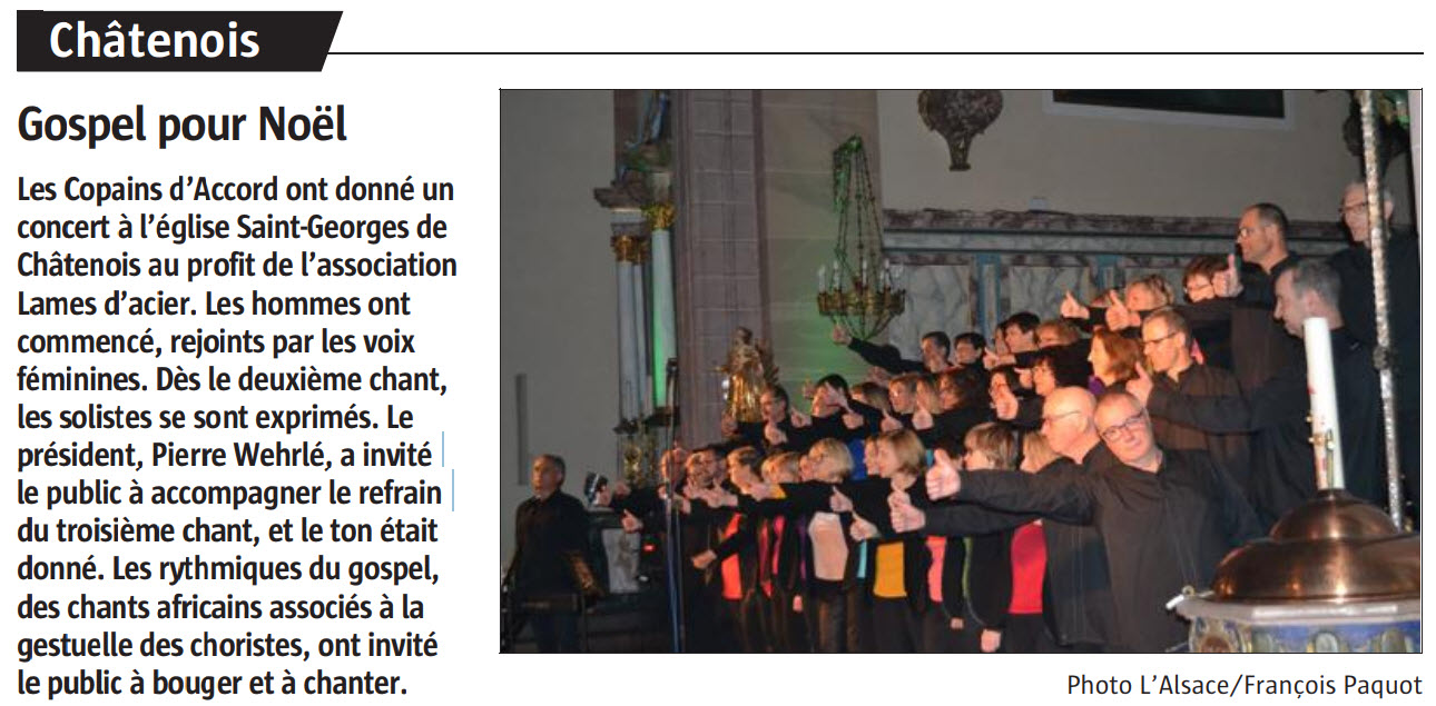 L'Alsace du 5 décembre 2018