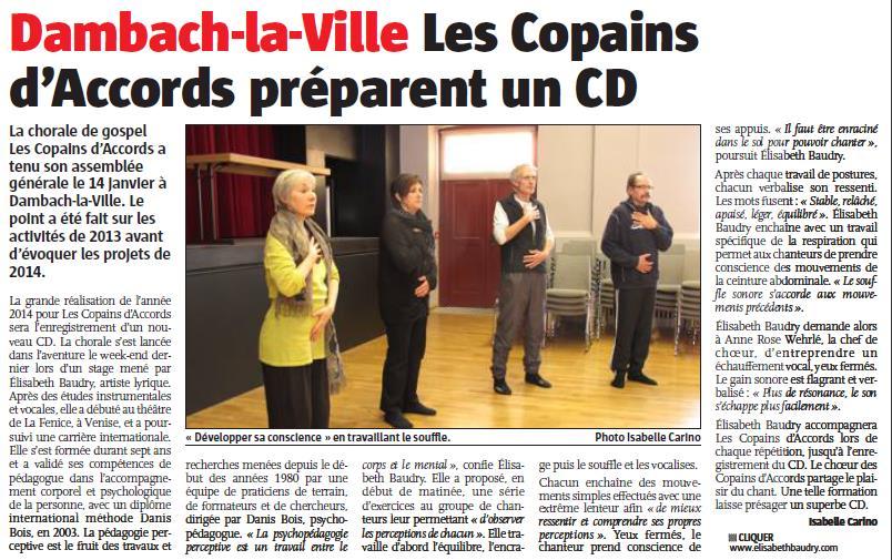 L'Alsace du 29 janvier 2014